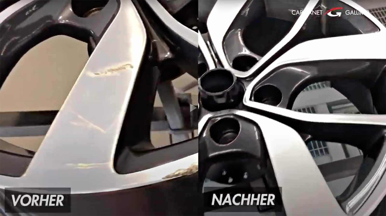 YouTube Carplanet Garage Galliker Felgenreparatur CNC Glanzdrehmaschine Garage Galliker Autowerkstatt