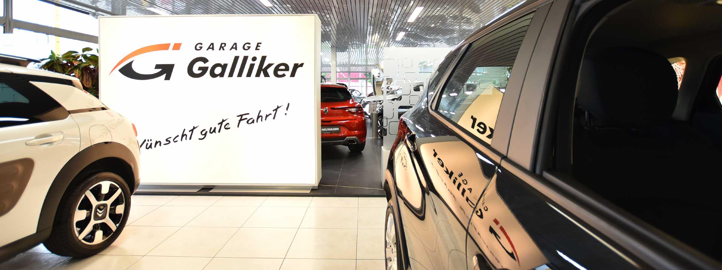 Garage Galliker AG Kriens Showroom - Garage Galliker wünscht Gute Fahrt!