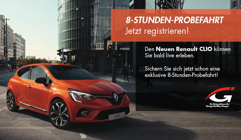 Renault Clio Probefahrt Anmeldung