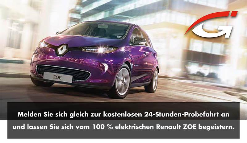 Renault Zoe 24 Stunden Probefahrt